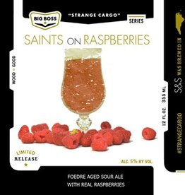 Big Boss 'Saints on Raspberries' Foudre Aged Sour Ale 12oz Sgl