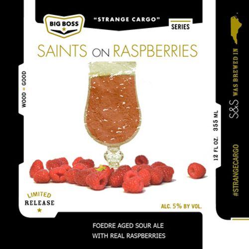 Big Boss 'Saints on Raspberries' Foudre Aged Sour Ale 12oz Sgl