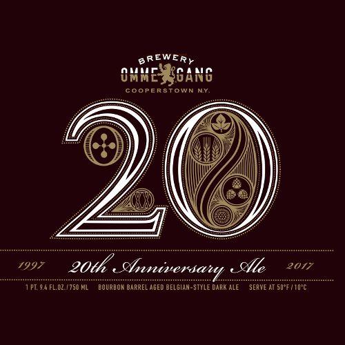 Ommegang '20th Anniversary' Bourbon Barrel-aged Dark Belgian Ale  750ml
