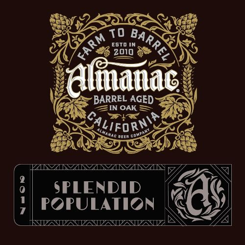 Almanac 'Splendid Population' Imperial Sour Blonde Ale aged in Wine Barrels 375ml