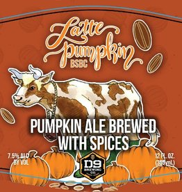 D9 'Latte Pumpkin Brown Sugar Brown Cow' Pumpkin Ale 12oz Sgl