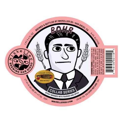 Mikkeller SD x Cigar City 'BOHR' Imperial Stout brewed with Raisins and Spice 500ml