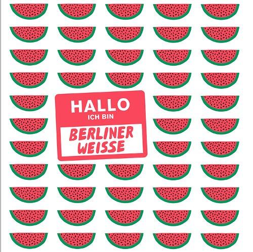 Mikkeller Mikkeller 'Ich Bin Berliner Weisse Watermelon' 500ml Sgl (Can)