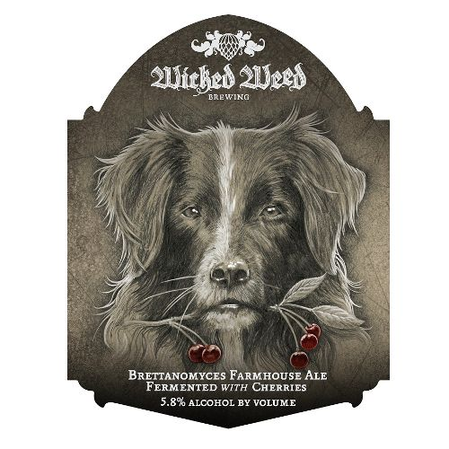 Wicked Weed 'Ferme de Chien' Brettanomyces Farmhouse Ale Fermented w/ Cherries 500ml