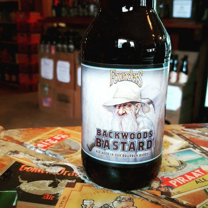 Founders 'Backwoods Bastard' Ale aged in Oak Bourbon Barrels 12oz Sgl