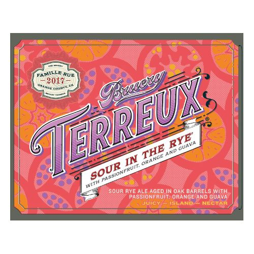 The Bruery 'Sour in the Rye w/ Passion Fruit, Orange, and Guava' 750ml
