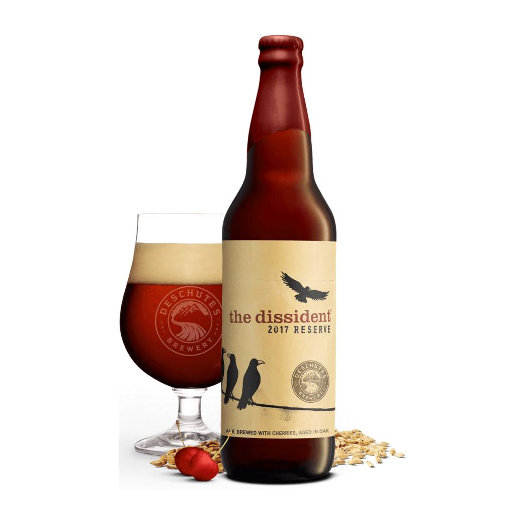Deschutes 'The Dissident 2017' Ale Brewed with Cherries, Aged in Oak. 22oz