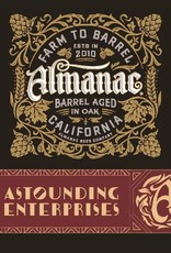 Almanac 'Astounding Enterprises' Imperial Sour Red ale aged in Wine barrels with Merlot grapes, Raspberries, Cacao & Vanilla Beans 375ml
