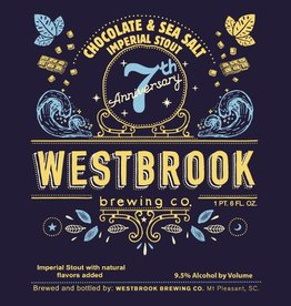 Westbrook '7th Anniversary' Chocolate & Sea Salt Imperial Stout 22oz