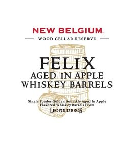 New Belgium Brewing 'Felix aged in Apple Whiskey Barrels' 375ml