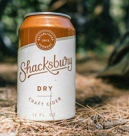Shacksbury 'Dry' Craft Cider 12oz (can)