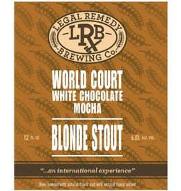 Legal Remedy 'World Court' Mocha Blonde Stout 12oz Sgl (Can)