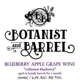 Botanist & Barrel 'Collusion Blueberry' Blueberry Apple Grape Wine aged in Brand Barrels 750ml