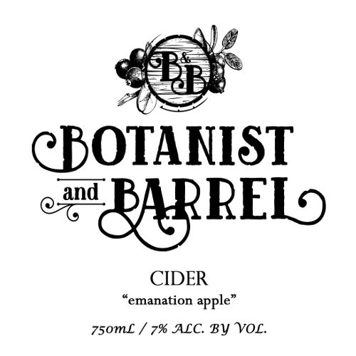 Botanist & Barrel 'Emanation Apple' Cider 750ml