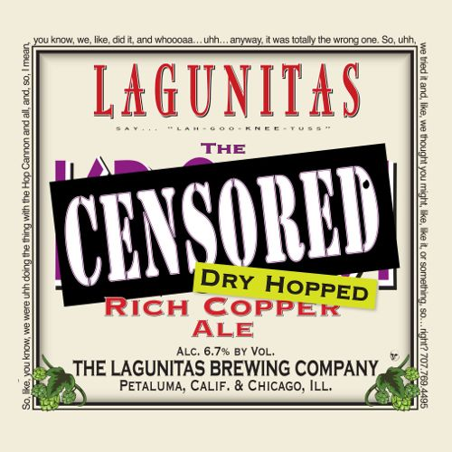 Lagunitas 'Censored' Dry Hopped Rich Copper Ale 12oz Sgl
