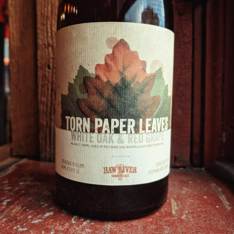 Haw River Farmhouse Ales 'Torn Paper Leaves' Tripel Aged in Red Wine Barrels 500ml