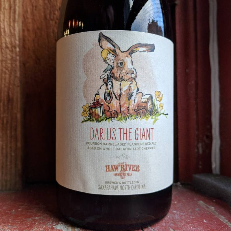 Haw River 'Darius the Giant' Flanders Red Ale w/ Balaton Cherries aged in Bourbon barrels 500ml