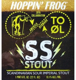 Hoppin' Frog x To Øl 'SS Stout' Scandinavian Sour Imperial Stout 22oz