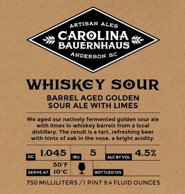 Carolina Bauernhaus 'Whiskey Sour' Barrel Aged Golden Sour Ale 500ml