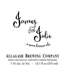 Allagash 'James and Julie' Sour Brown Ale 375ml