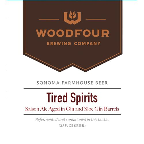 Woodfour 'Tired Spirits' Gin Barrel-aged Tart Saison 375ml Sgl