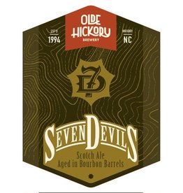 Olde Hickory Brewery 'Seven Devils' Scotch Ale aged in Bourbon Barrels 22oz