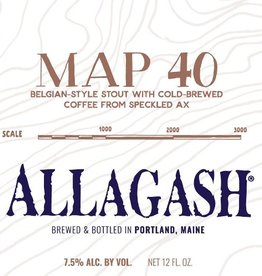 Allagash 'Map 40' Belgian-Style Coffee Stout 12oz Sgl