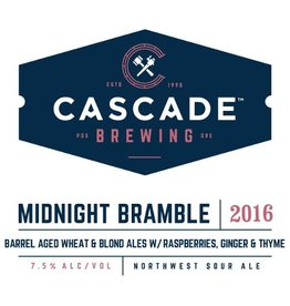 Cascade 'Midnight Bramble 2016 Project' Barrel-Aged Sour Ale w/ Raspberries, Ginger & Thyme 750ml