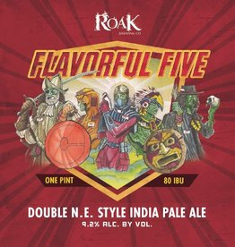Roak 'Flavorful Five' New England-Style Double IPA 16oz Sgl (Can)