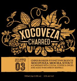 Stone Brewing 'Xocoveza Charred' Bourbon Barrel-aged Ale w/ Cocoa, Coffee, & Spices 500ml