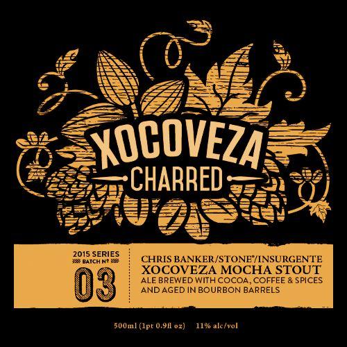Stone Brewing 'Xocoveza Charred' Bourbon Barrel-aged Ale w/ Cocoa, Coffee, & Spices 500ml