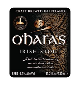 Carlow 'O'hara's Irish Stout' 11.2oz Sgl