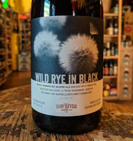 Haw River Farmhouse Ales 'Wild Rye in Black' Wine Barrel-aged Black Farmhouse Saison 500ml