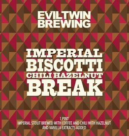 Evil Twin 'Imperial Biscotti Chili Hazelnut Break' Imperial Stout 16oz Sgl (Can)