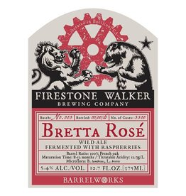 Firestone Walker 'Bretta Rose' Wild Ale Fermented w/ Raspberries 375ml