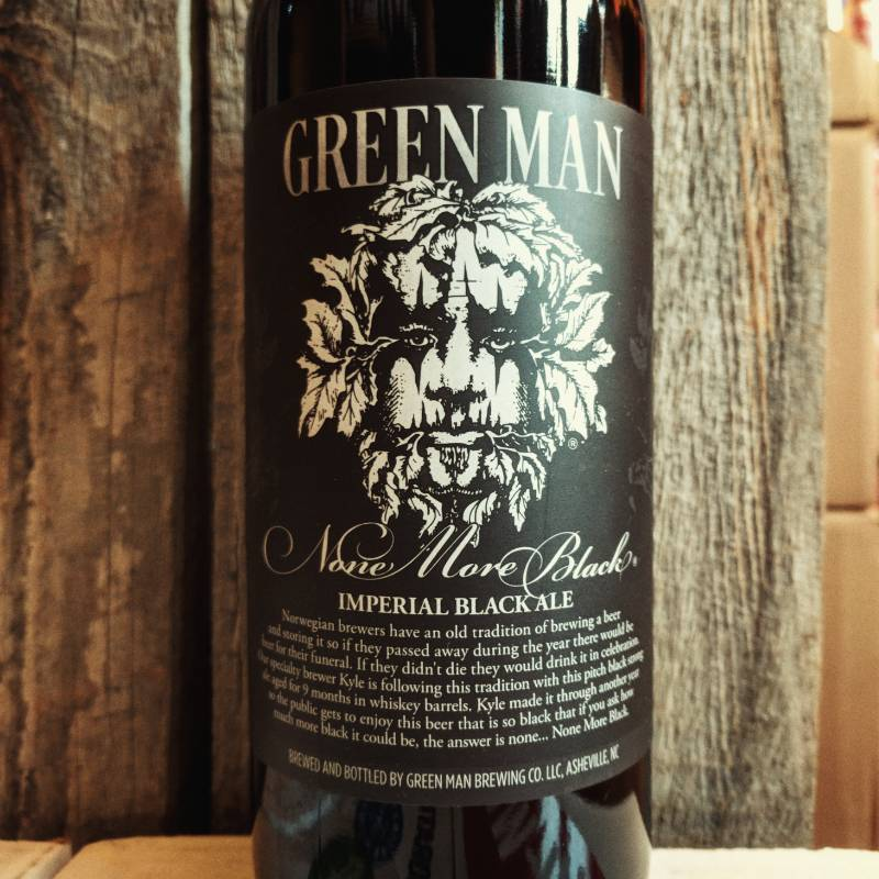 Green Man 'None More Black' Barrel-aged Imperial Black Ale 750ml