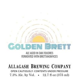 Allagash 'Golden Brett' Ale Aged in Oak Barrels 375ml