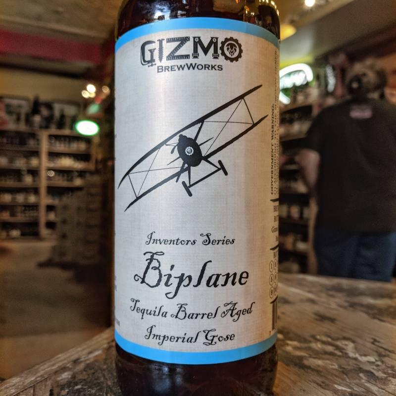 Gizmo BrewWorks 'Biplane' Imperial Gose aged in Tequila Barrels 22oz