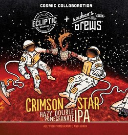 Ecliptic x Reubens 'Crimson Star' Double Pomegranate IPA 22oz