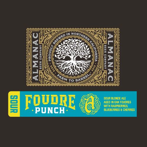 Almanac 'Foudre Punch' Sour Blonde Ale Aged in Oak w/ Raspberries, Blueberries, & Cherries 375ml