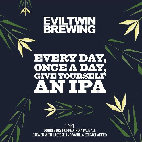 Evil Twin 'Every Day, Once a Day, Give Yourself an IPA' 16oz (Can)