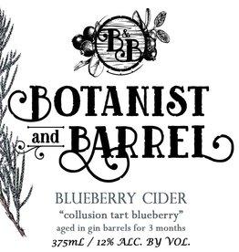 Botanist & Barrel 'Collusion Tart Blueberry' Cider 375ml