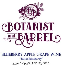 Botanist & Barrel 'Fusion Blueberry' Blueberry Apple Grape Wine 375ml