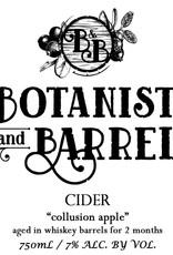 Botanist & Barrel 'Collusion Apple' Cider aged in Whiskey Barrels 750ml