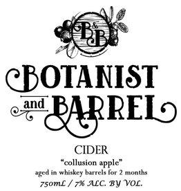 Botanist & Barrel 'Collusion Apple' Barrel-aged Cider 750ml