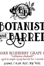 Botanist & Barrel 'Collusion Rhubarb' Cider aged in Maple Syrup Barrels 375ml