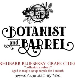 Botanist & Barrel 'Collusion Rhubarb' Barrel-aged Cider 375ml