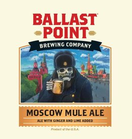 Ballast Point Brewing Co. 'Moscow Mule' Ale w/ Ginger & Lime 12oz Sgl
