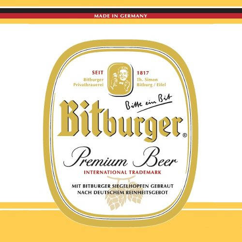 Bitburger 'Premium Beer' 330ml Sgl