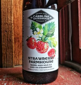 Carolina Bauernhaus 'Strawberry Farmhouse' Barrel Aged Sour Ale 500ml